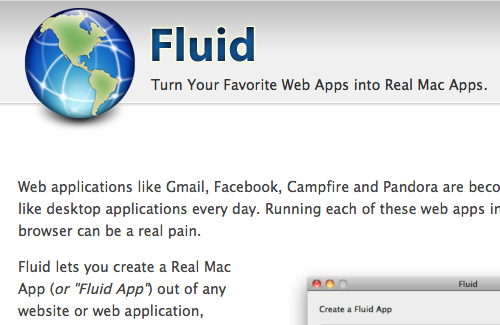 Fluid  Turn Your Favorite Web Apps into Real Mac Apps